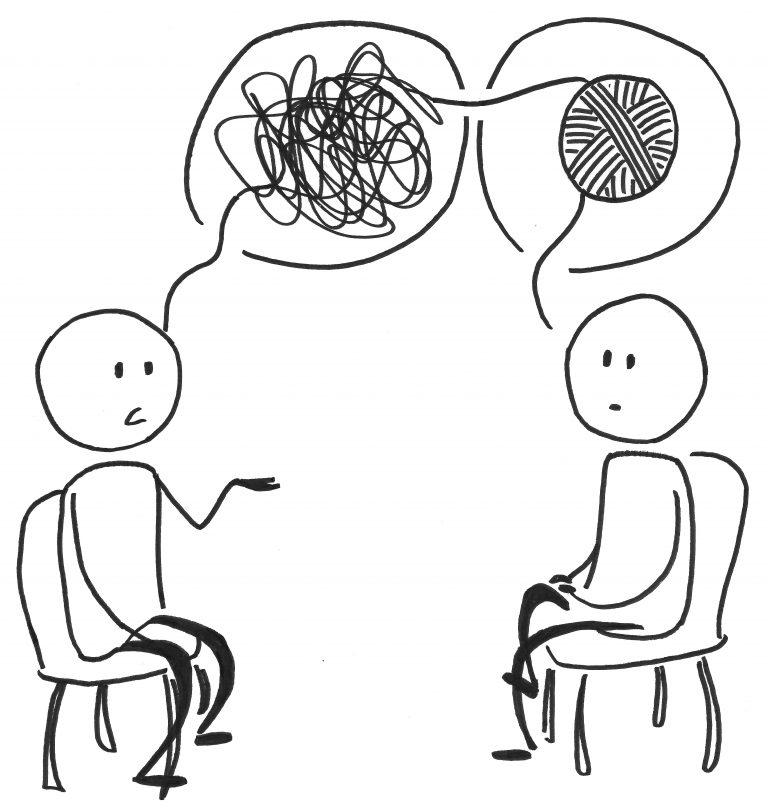 le travail du psychologue est basé sur l'écoute et l'échange